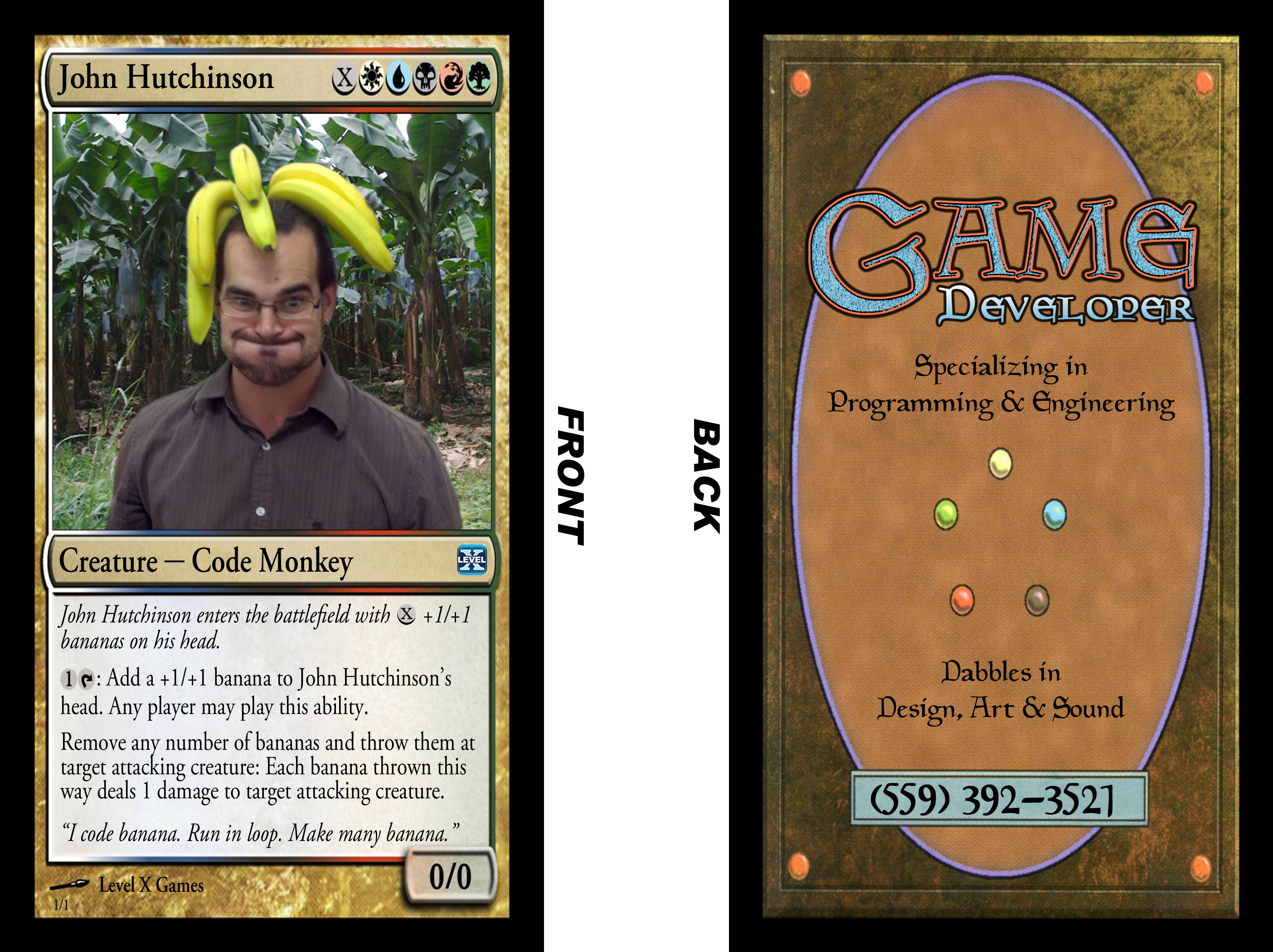 Magic The Gathering: Parody Business Cards - Level X Games