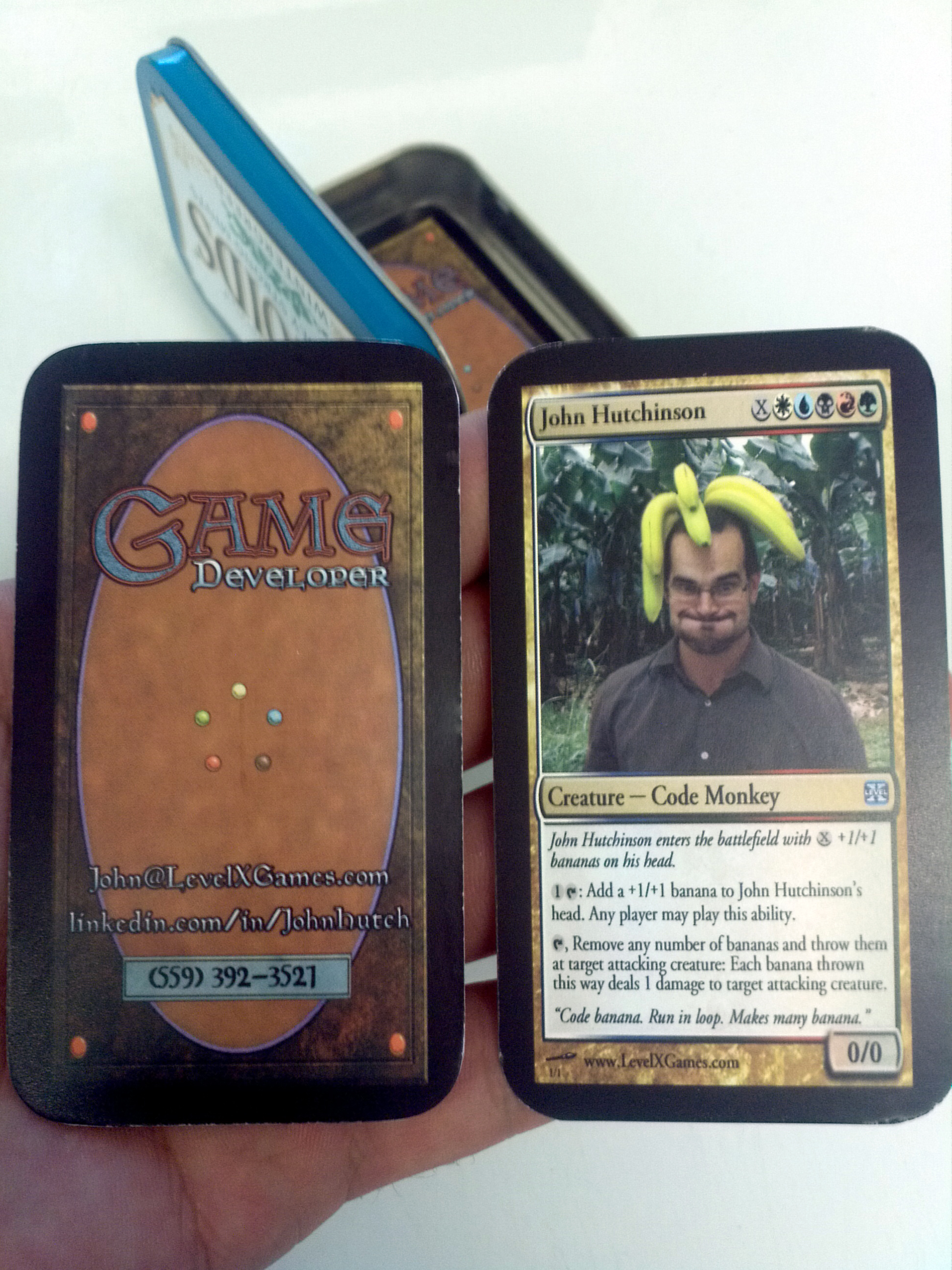 Magic the gathering parody business cards level x games colourmoves